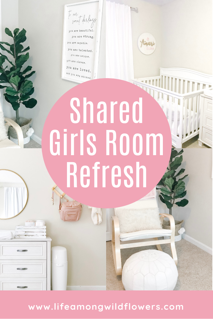 Blush and gold boho nursery and toddler room