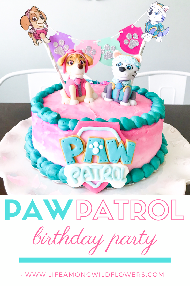 How to throw the perfect girl's Paw Patrol Birthday Party with Skye and Everest!